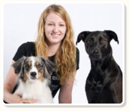 Photo of Heather and her dogs